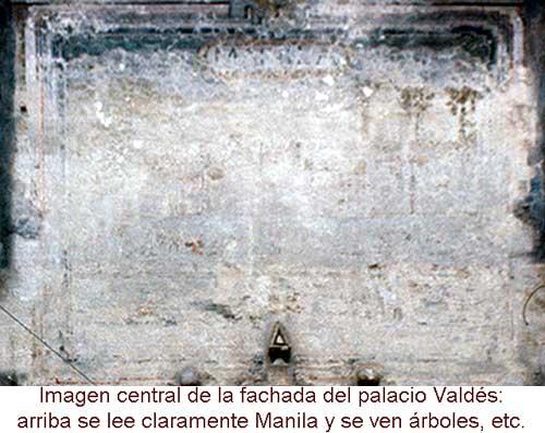 Vista de Manila en la fachada del palacio de Valdés Tamón en Molina de Aragón. En Septiembre de 1975.